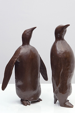 Jérôme Festy - Couple Pingouins - Bronze